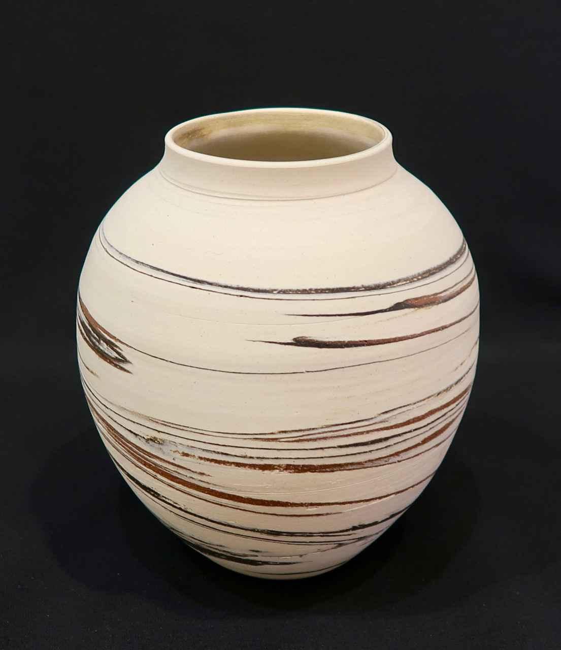 Multicolor Clay Vase_... by Ms. Birgitta Frazier - Masterpiece Online