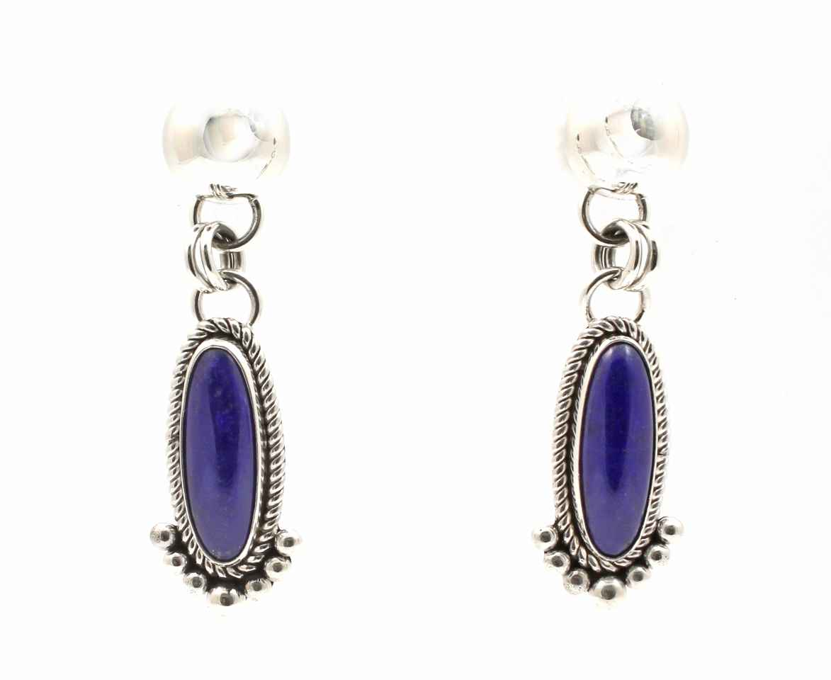 Lapis Drop Earrings by  Artie Yellowhorse - Masterpiece Online