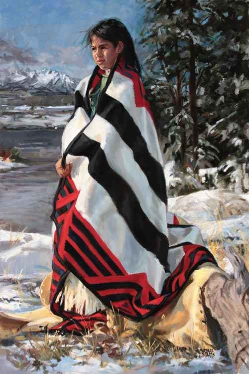 SOLD- Snow Moon by  Barbara Summers Edwards - Masterpiece Online