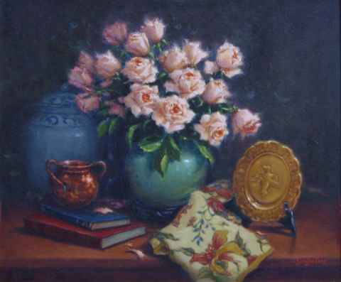 Copper & Roses by  Sally  Jordan - Masterpiece Online