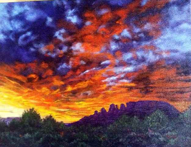Cockscomb At Sunset by  Syri Hall - Masterpiece Online