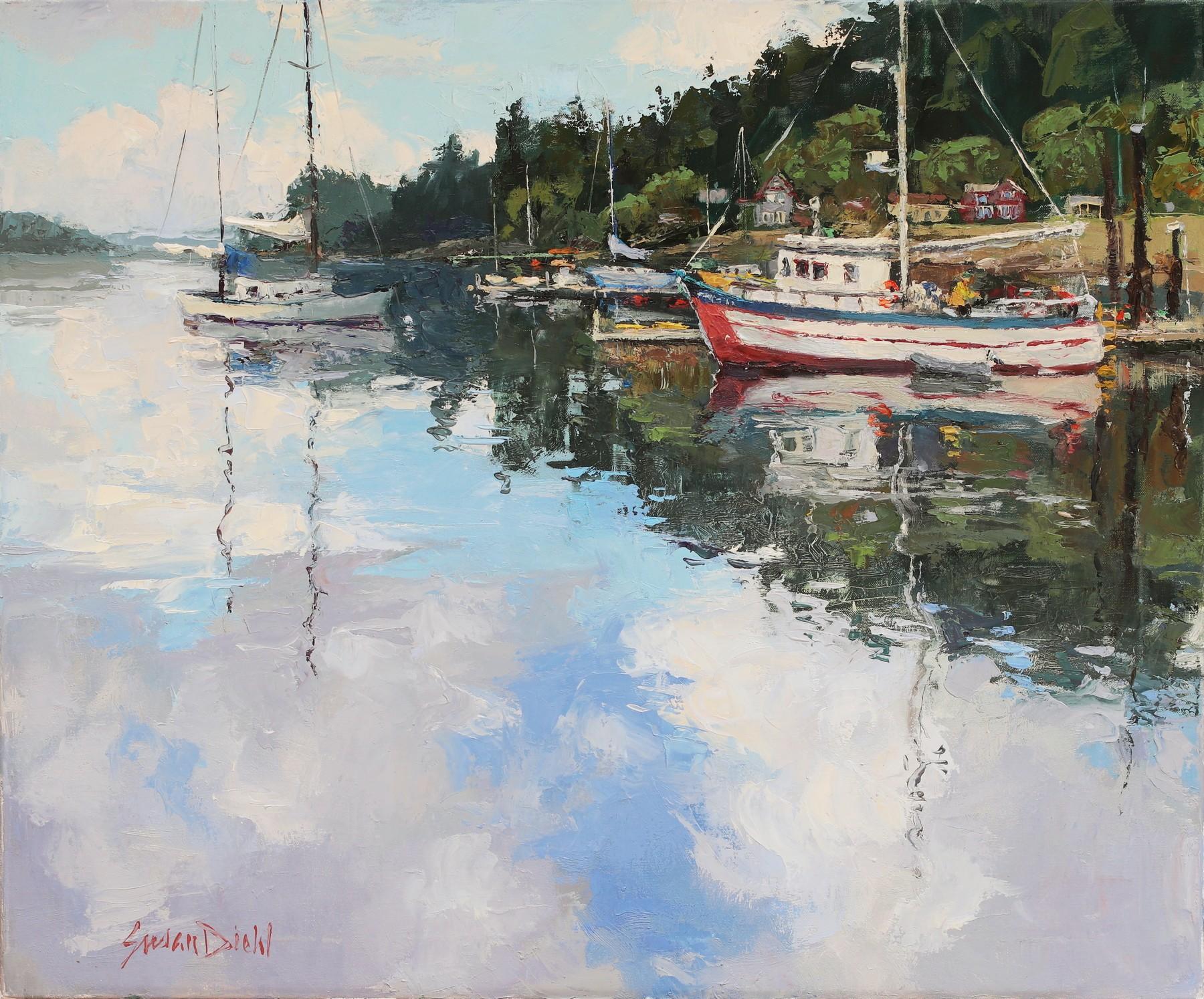 Watery Sky  by  Susan Diehl