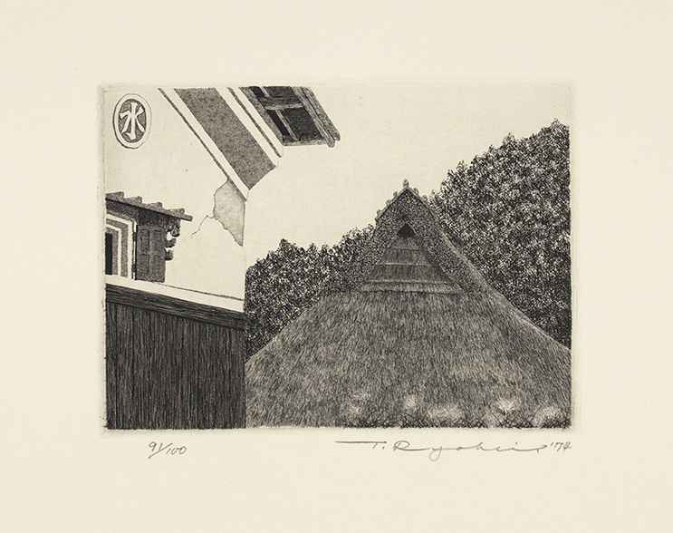 Thatched Roof and Sto... by  Ryohei Tanaka - Masterpiece Online