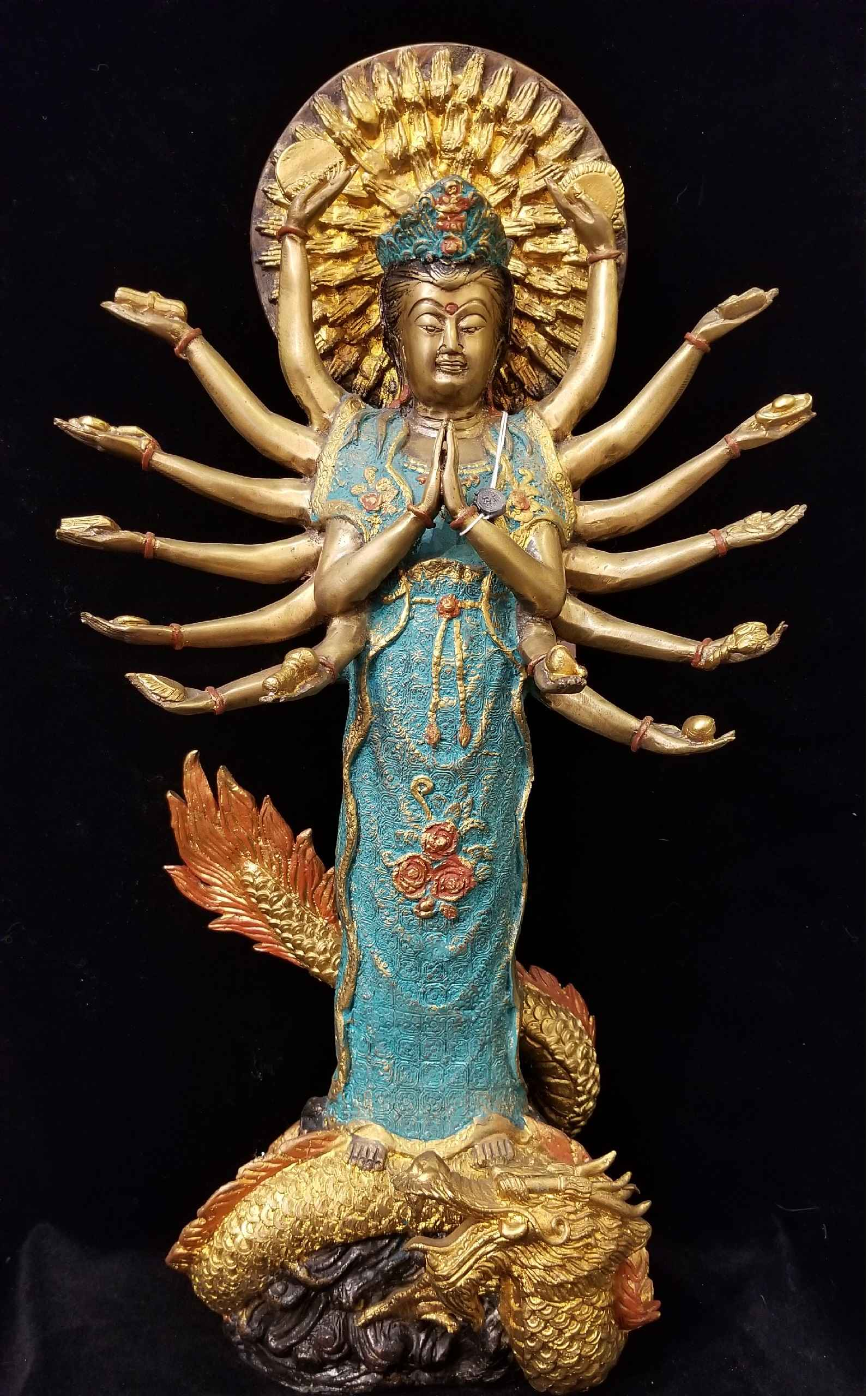Kuan Yin Standing Wit... by  Gallery Pieces - Masterpiece Online