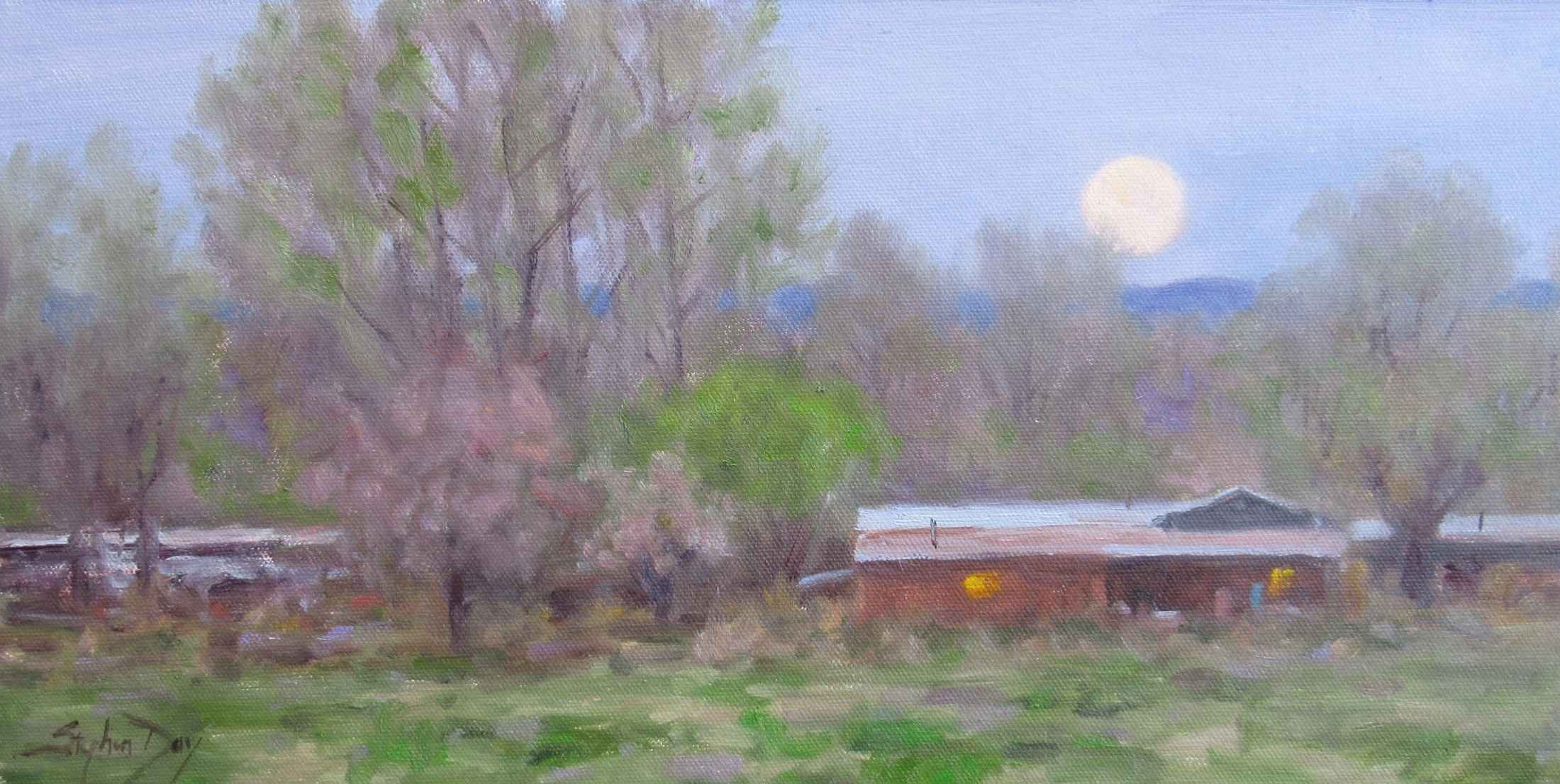 Spring Morning Moon by  Stephen Day - Masterpiece Online