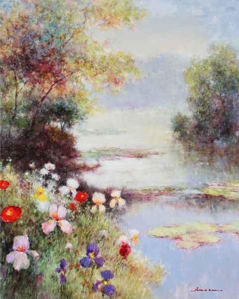 Misty Pond by   Jian-yi  Liu - Masterpiece Online