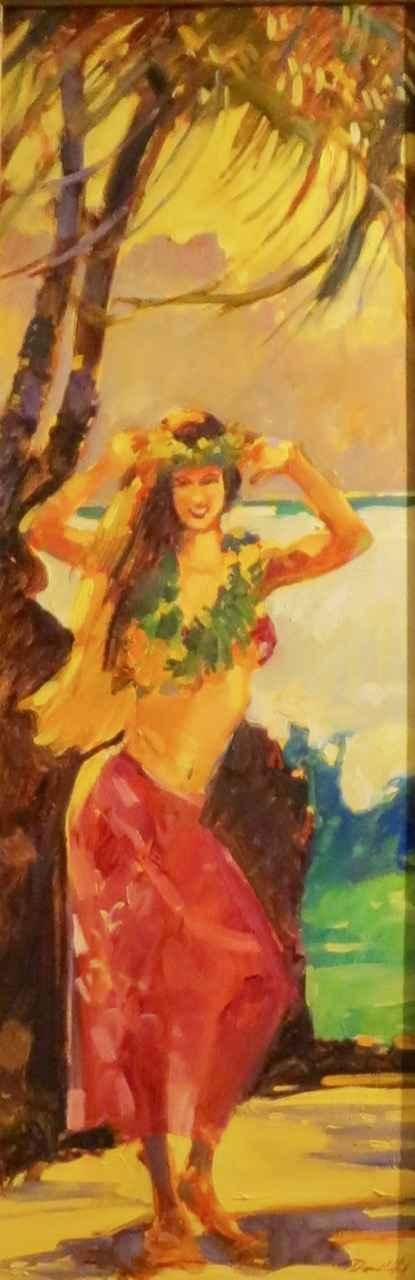 Hula Dancer by  Darrell Hill (1941-2013) - Masterpiece Online