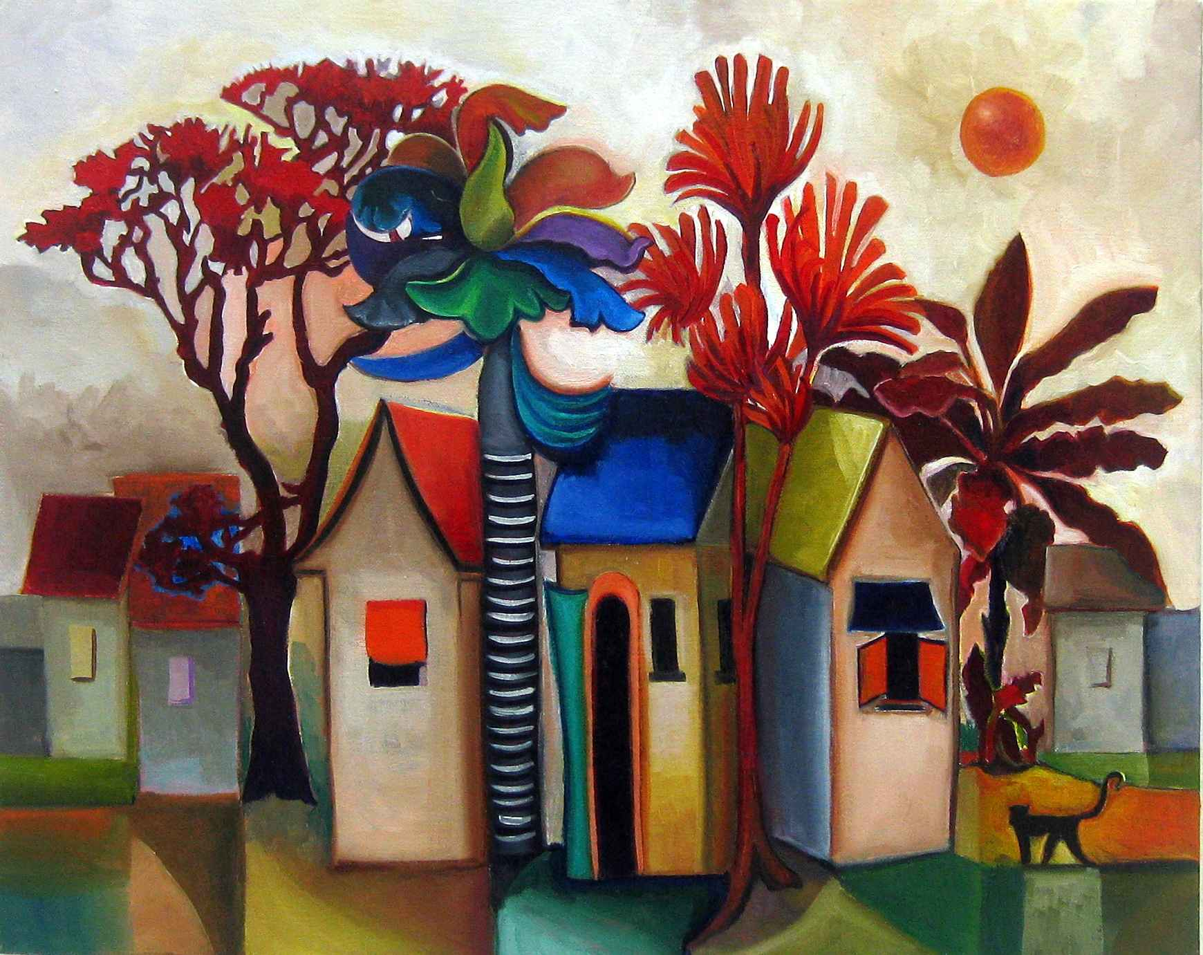 Small Fantasy Houses by Mrs. Howaida Moussa-Weel - Masterpiece Online