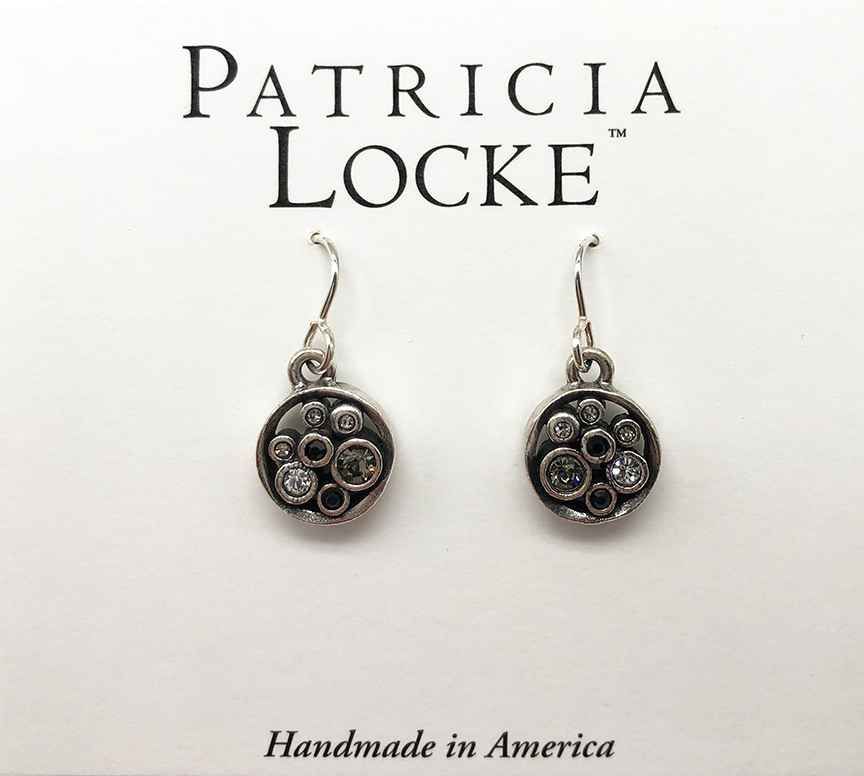 Bubble Tea Earrings in Silver, Black & White