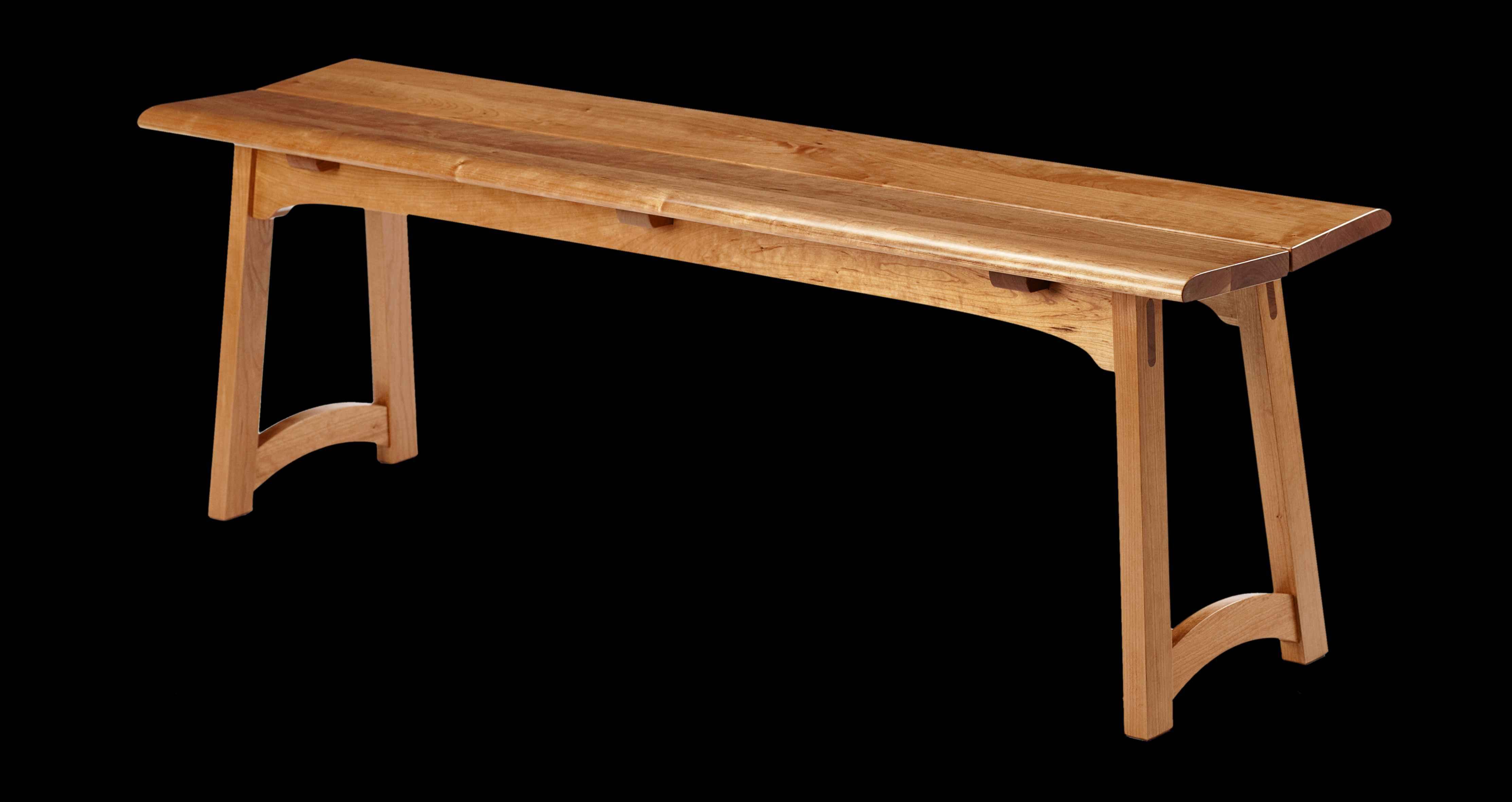 Cherry Wood Bench by  Rex White - Masterpiece Online