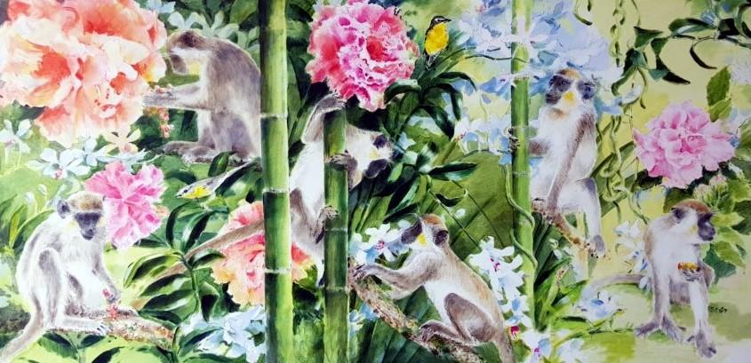 Rose Hibiscus by Ms. Heather-Dawn Scott - Masterpiece Online
