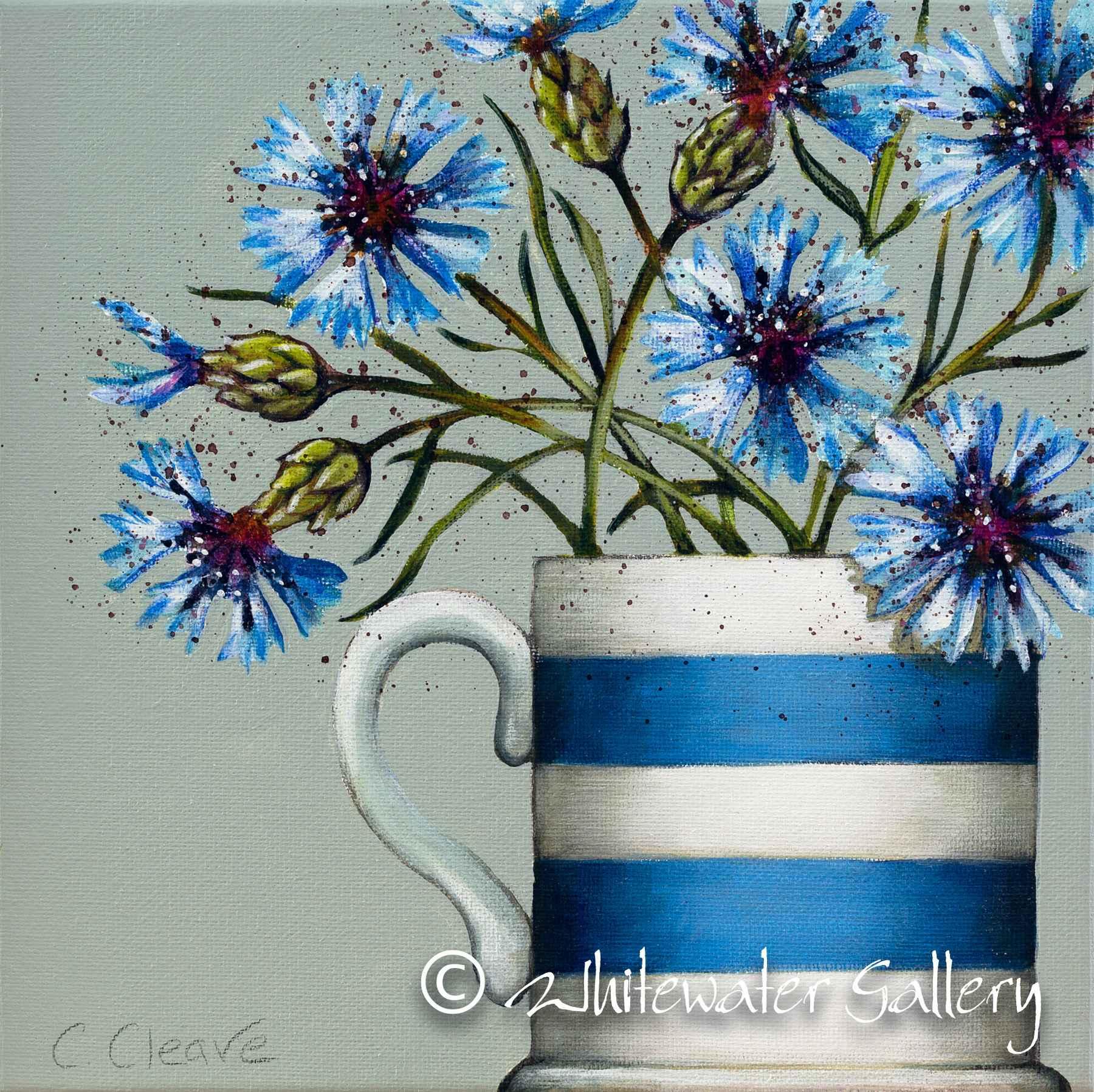 Cornish Cornflowers by  Caroline Cleave - Masterpiece Online