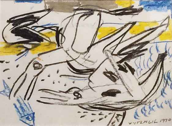 Two Seagulls 1970 VI by  Vaclav Vytlacil - Masterpiece Online