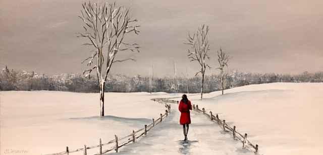 Winter Stroll by  Janet Liesemer - Masterpiece Online