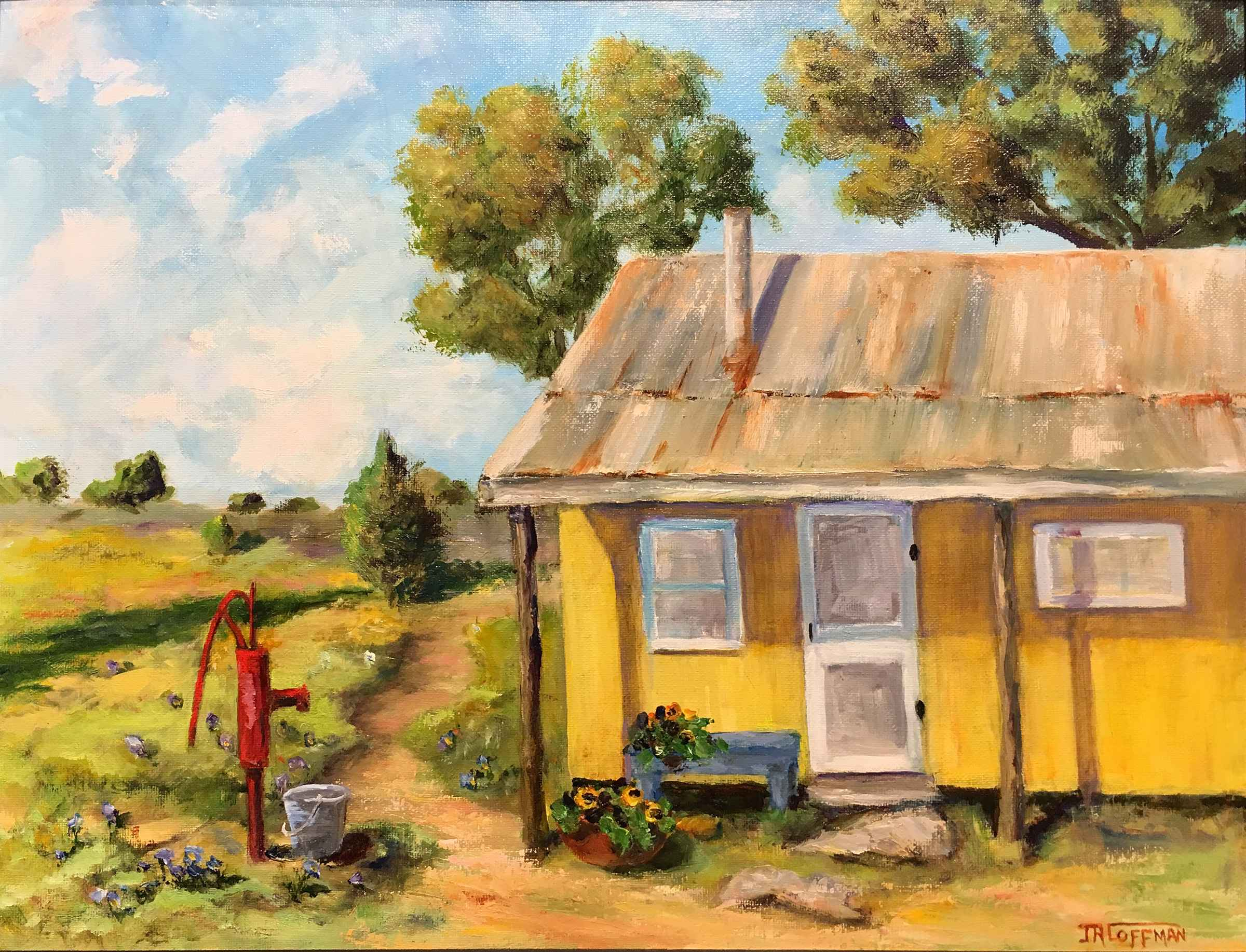 Yellow House on the P... by  Jim Coffman - Masterpiece Online