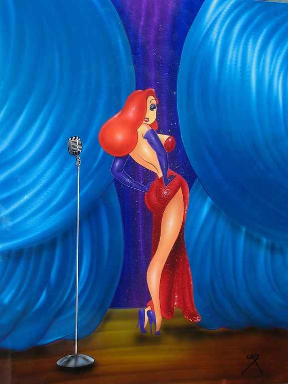 Lady In Red #7 by  Cris Woloszak - Masterpiece Online