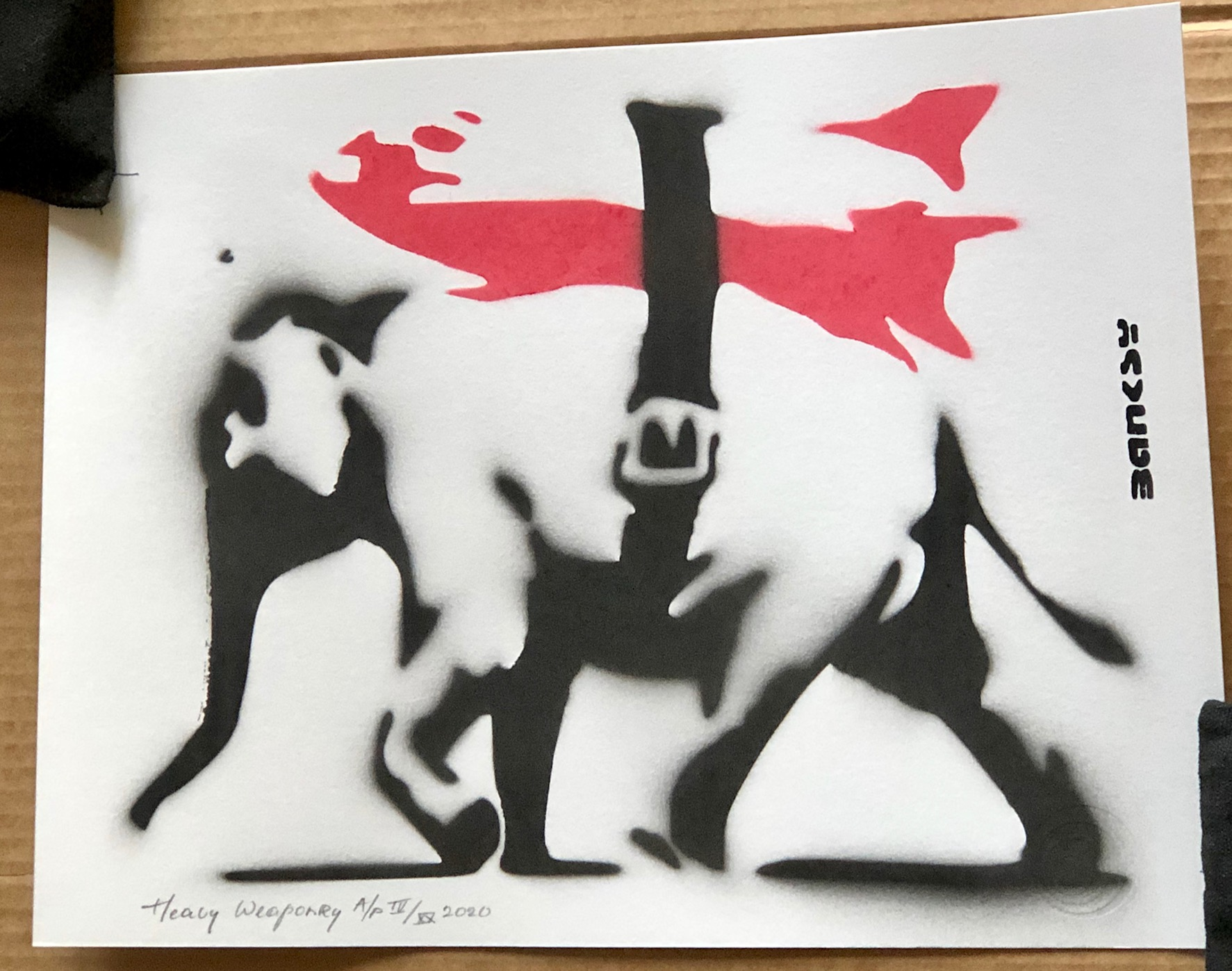 Heavy Weaponry by   Banksy - Masterpiece Online