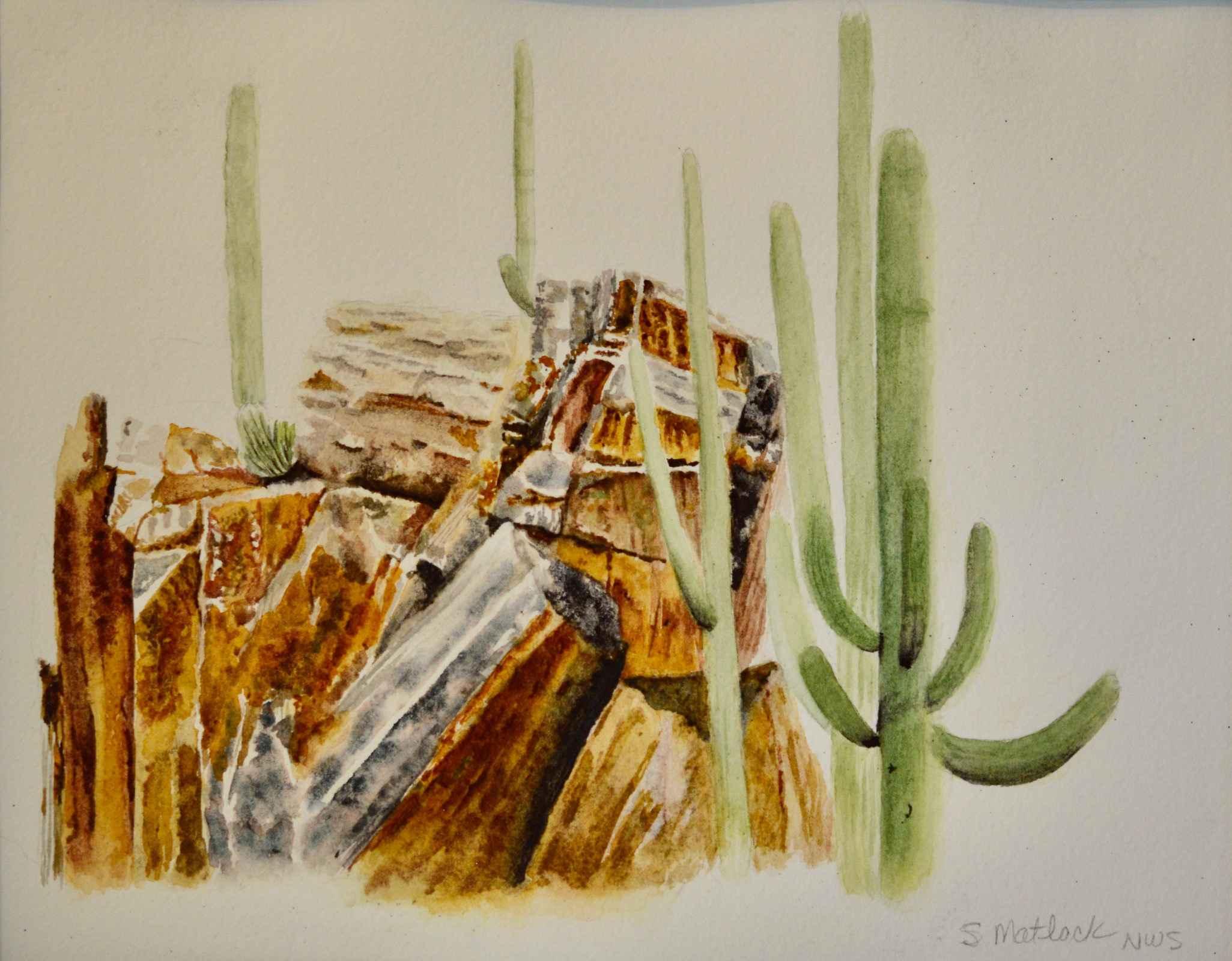 Sabino Red Rocks by  Sherry Matlack - Masterpiece Online