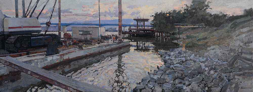 Bridges and Barges, II by  Daud Akhriev - Masterpiece Online