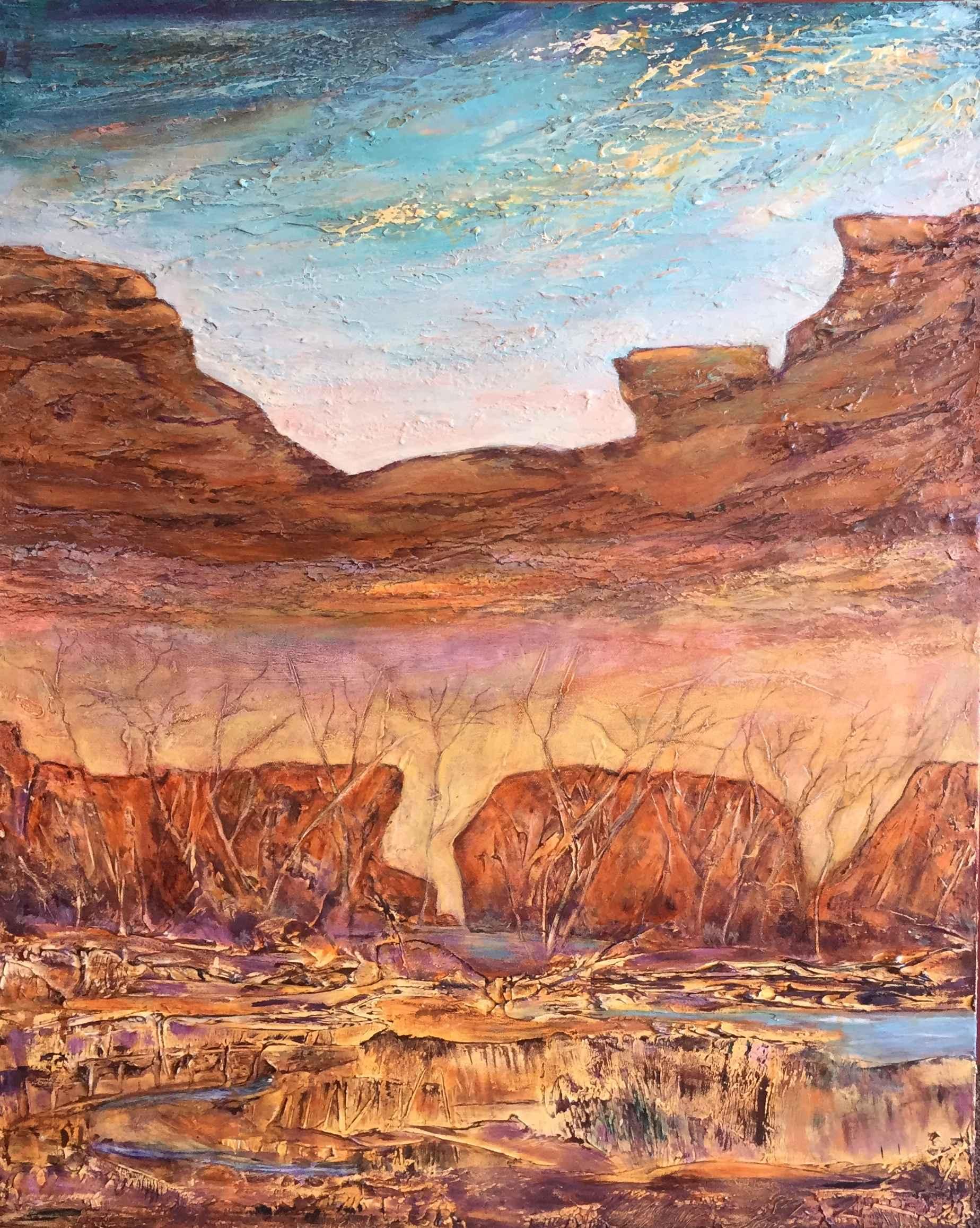 Sedona Dawn by  Marilyn Bos - Masterpiece Online