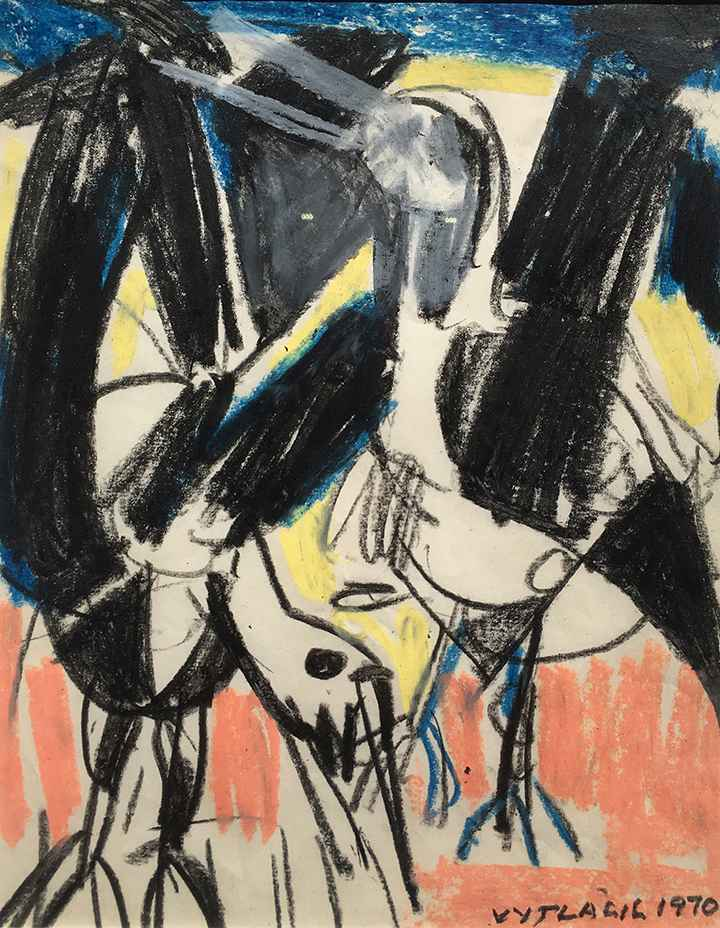 Two Seagulls VI, 1970 by  Vaclav Vytlacil - Masterpiece Online