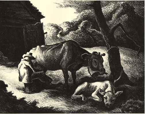 White Calf by  Thomas Hart Benton - Masterpiece Online