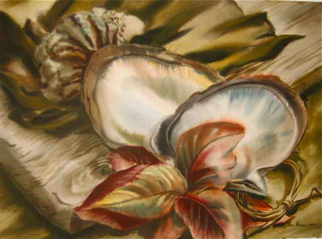Still Life: Shells  C... by  Robert Benjamin Norris (1910-2006) - Masterpiece Online
