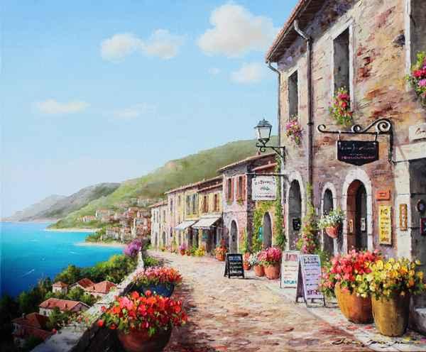 Wide Street View by  Soon Ju Choi  - Masterpiece Online