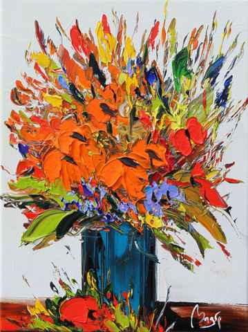 White Wall & Bouquet by  Louis  Magre - Masterpiece Online