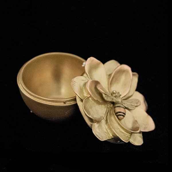 Honey Bee Box, Antique Bronze