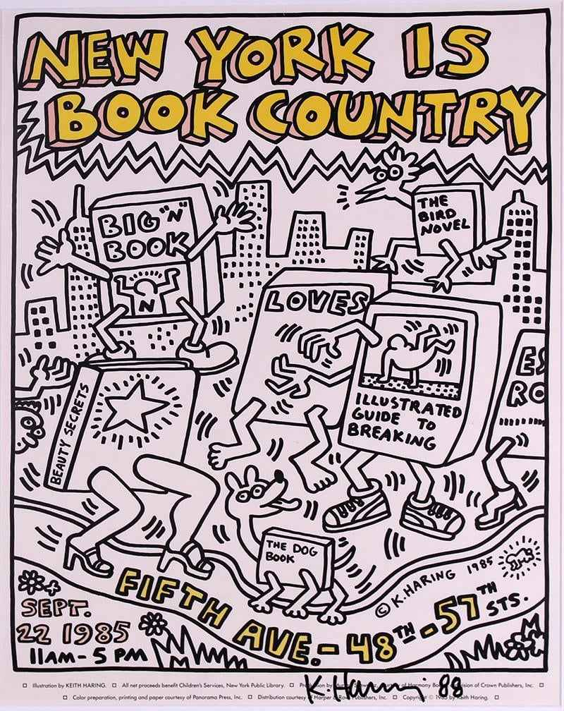 New York is Book Coun... by  Keith Haring - Masterpiece Online