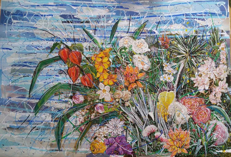 Fleurs en folie by Mme Marianne RUBIO - Masterpiece Online