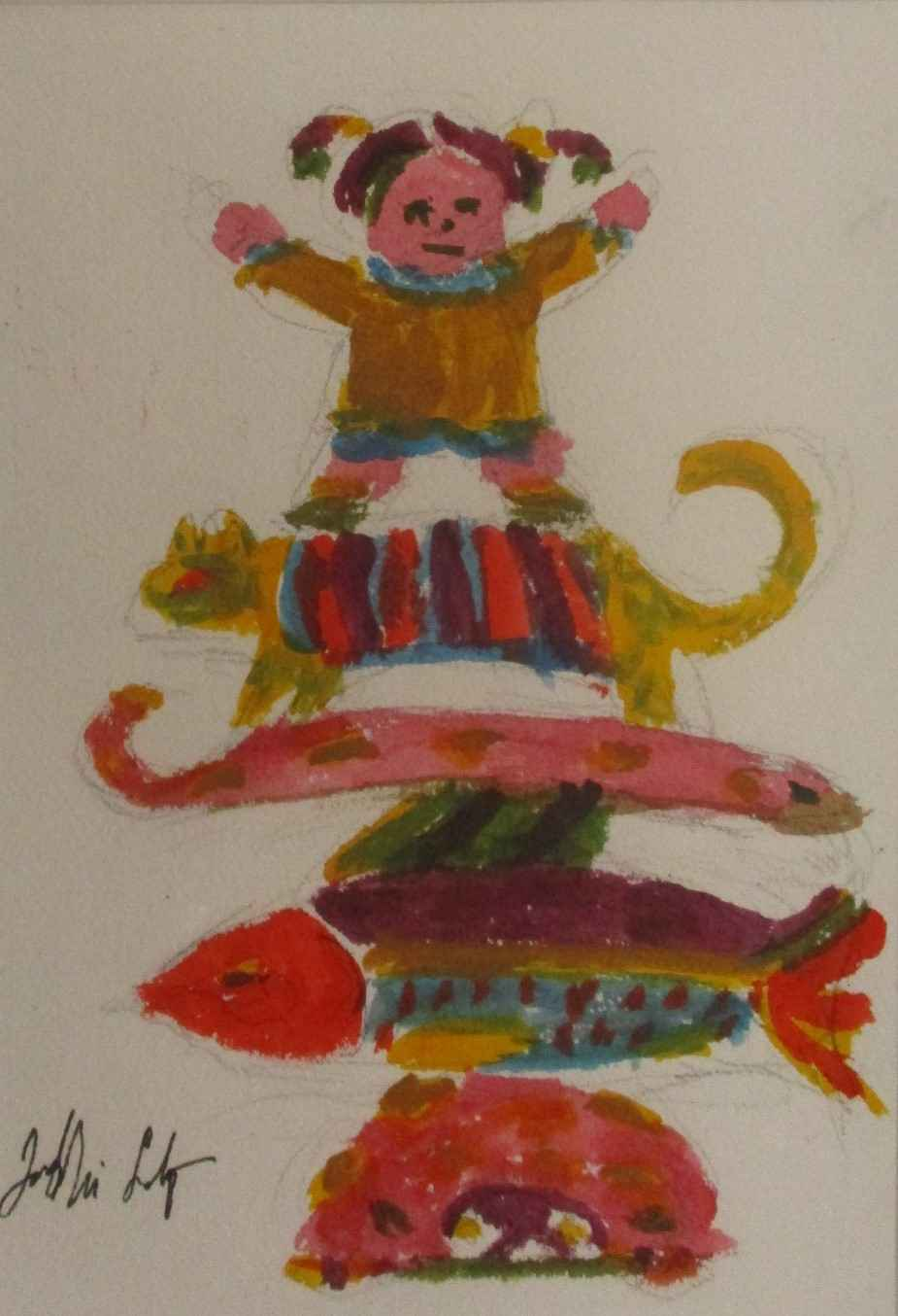 Untitled ( Kid on Cat) by  Jack McLarty - Masterpiece Online