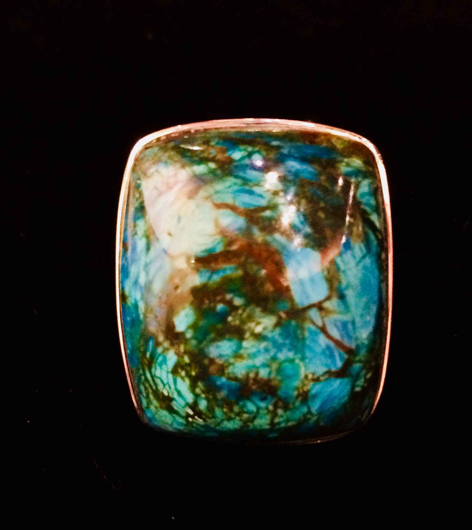 Chrysocola Ring by  Dee Winkelstern - Masterpiece Online