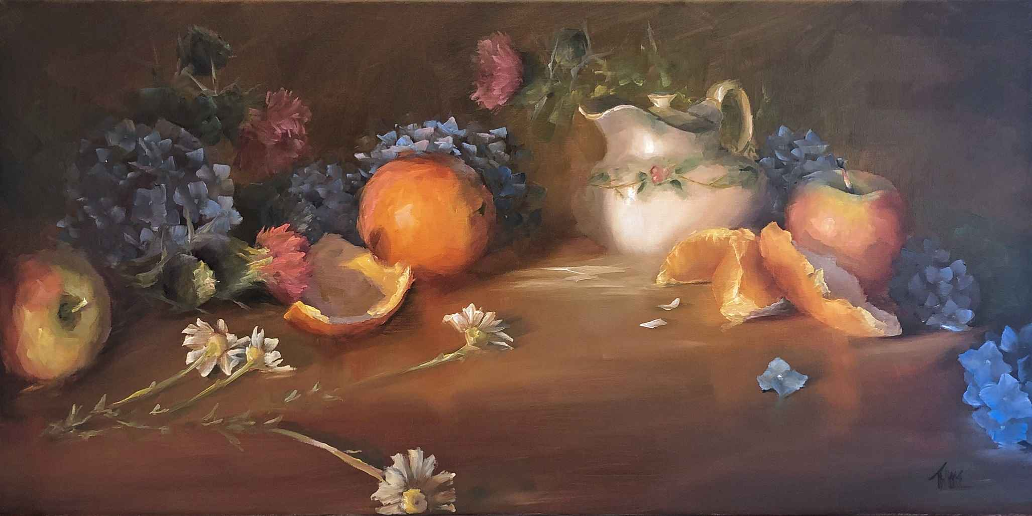 Apples, Orange and Ch... by  Lori Twiggs - Masterpiece Online