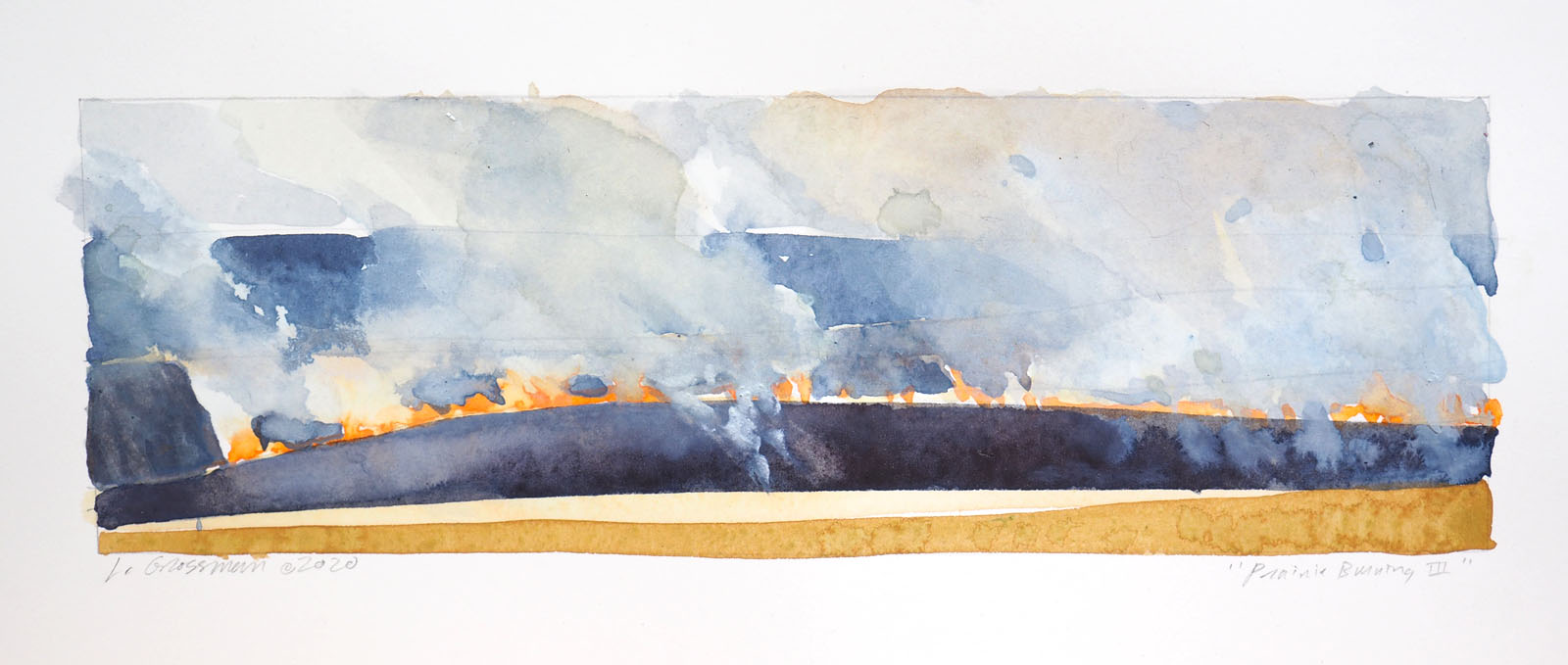 Prairie Burning III by  Lisa Grossman - Masterpiece Online
