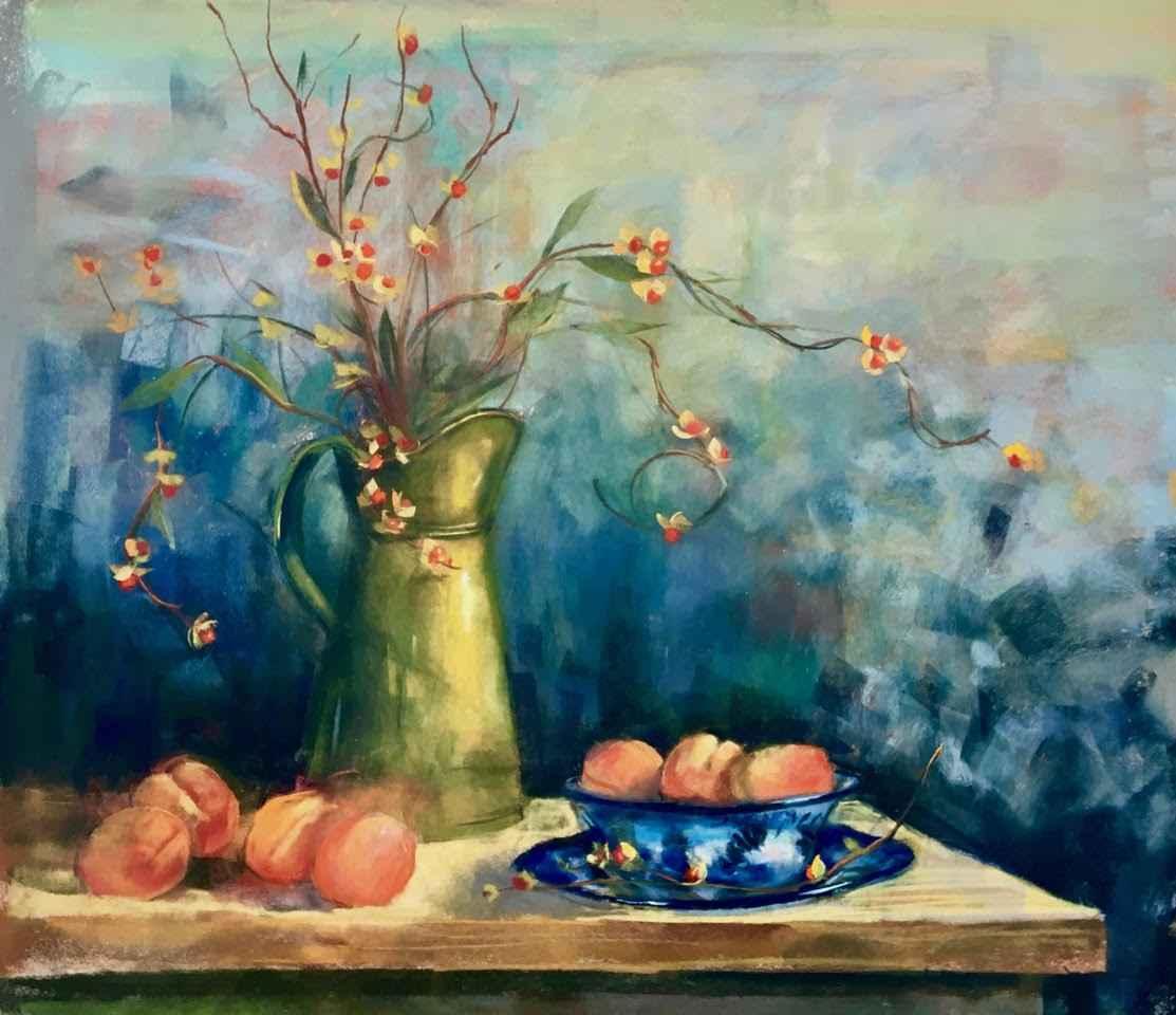 Brass Pitcher and Apr... by  Carol Rowan - Masterpiece Online