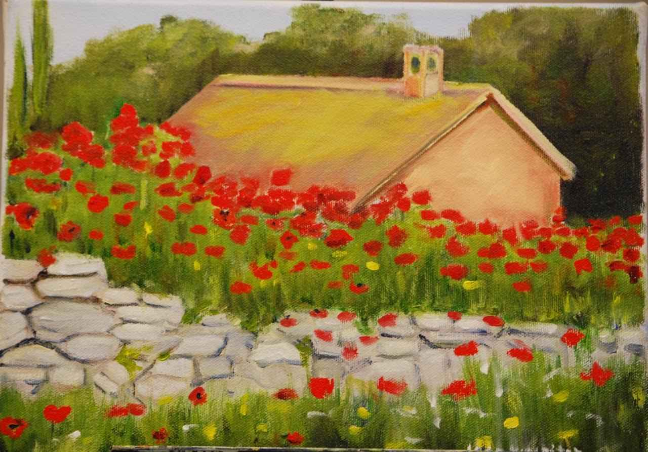 Provencal Poppies by  Joan Kumpitch - Masterpiece Online