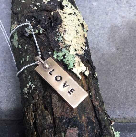 LOVE Pendant -Bronze by  Sherab (Shey) Khandro - Masterpiece Online