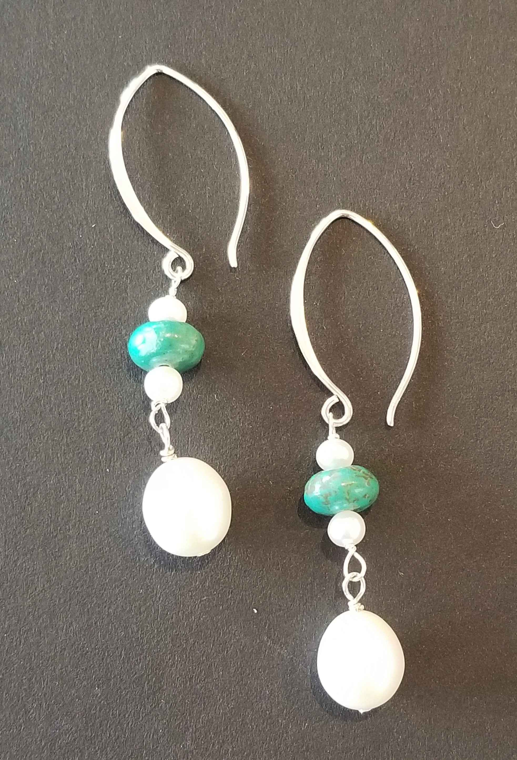 #75 White Pearl & Tur... by Ms. Catherine Laing - Masterpiece Online