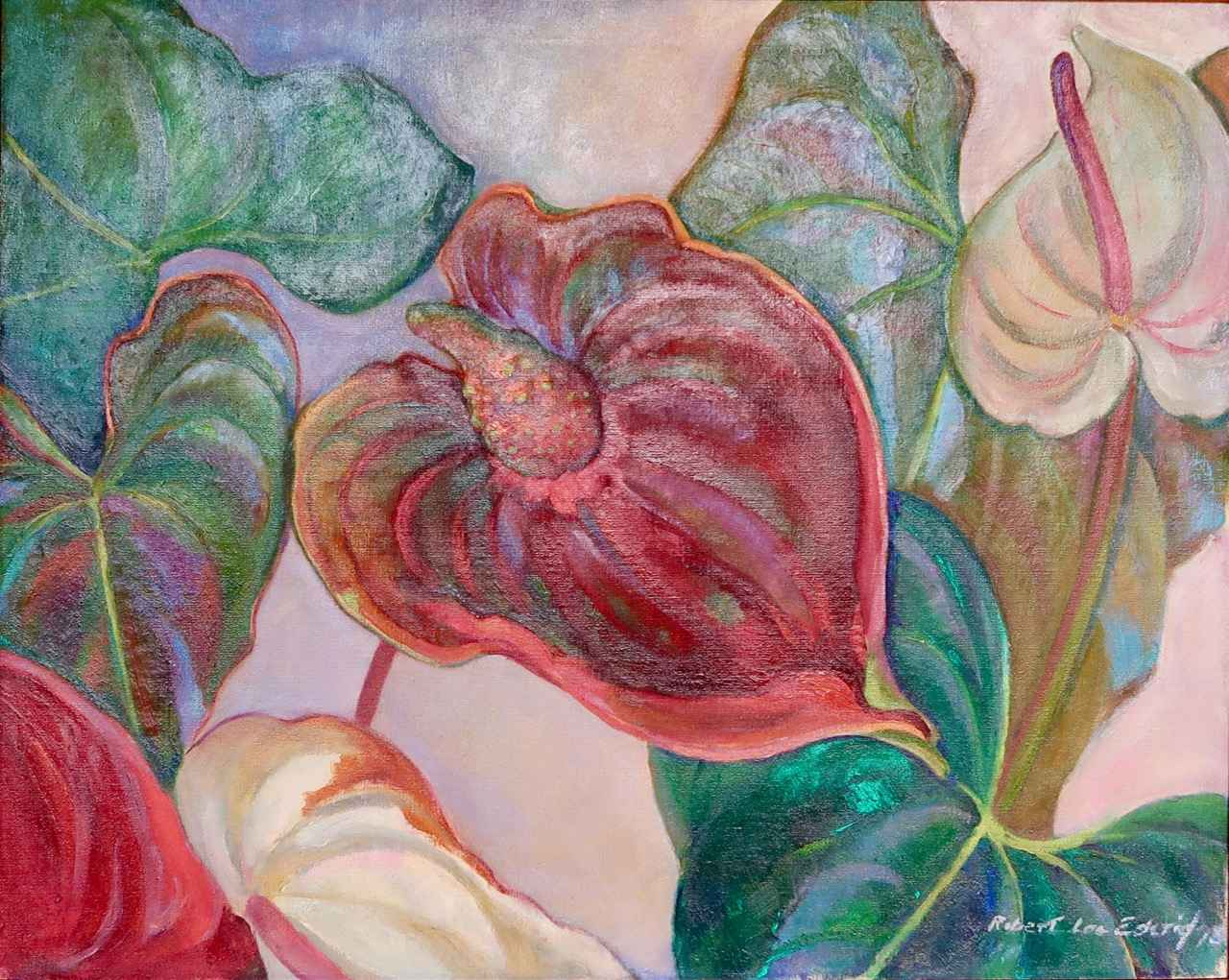 Anthuriums by  Robert Lee Eskridge (1891-1975) - Masterpiece Online