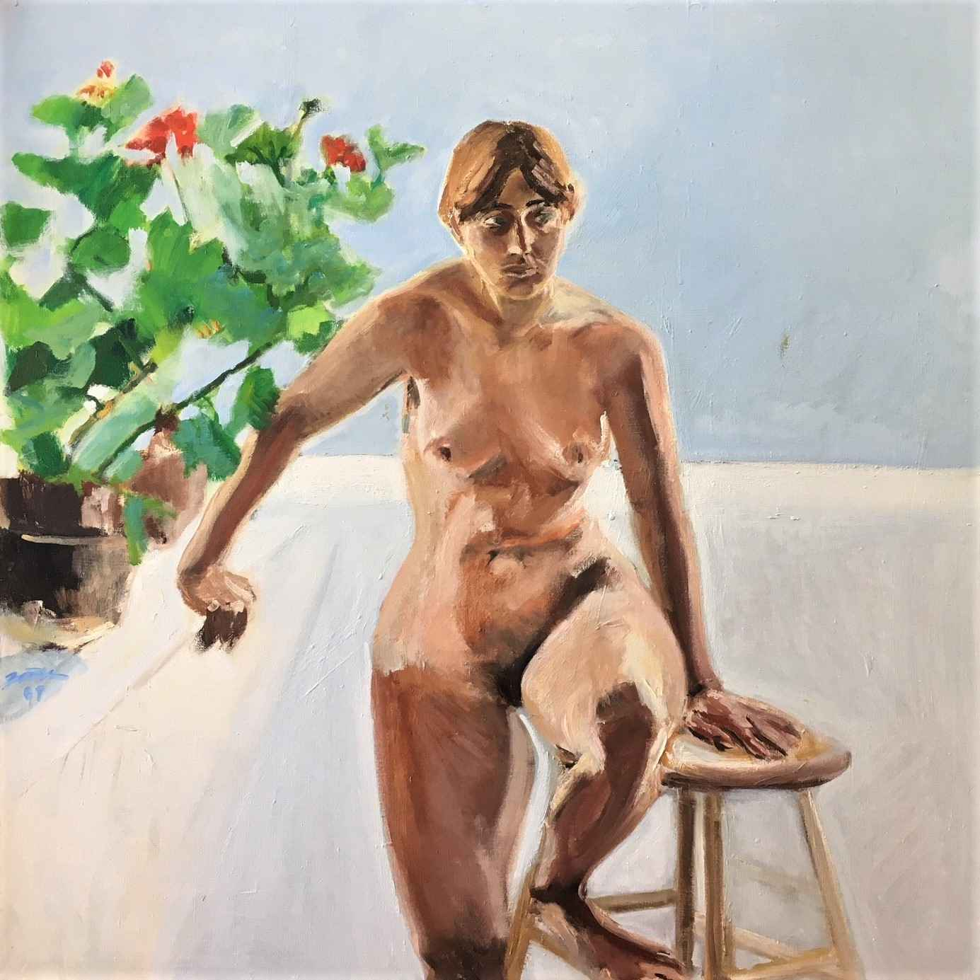 Unknown ( Nude w/stoo... by  Shirley Gittelsohn - Masterpiece Online