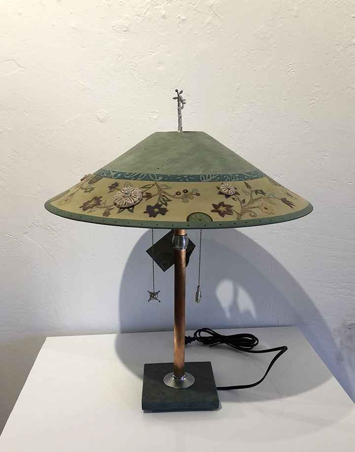 Eden and Seagrass Table Lamp, Ceramic Shade