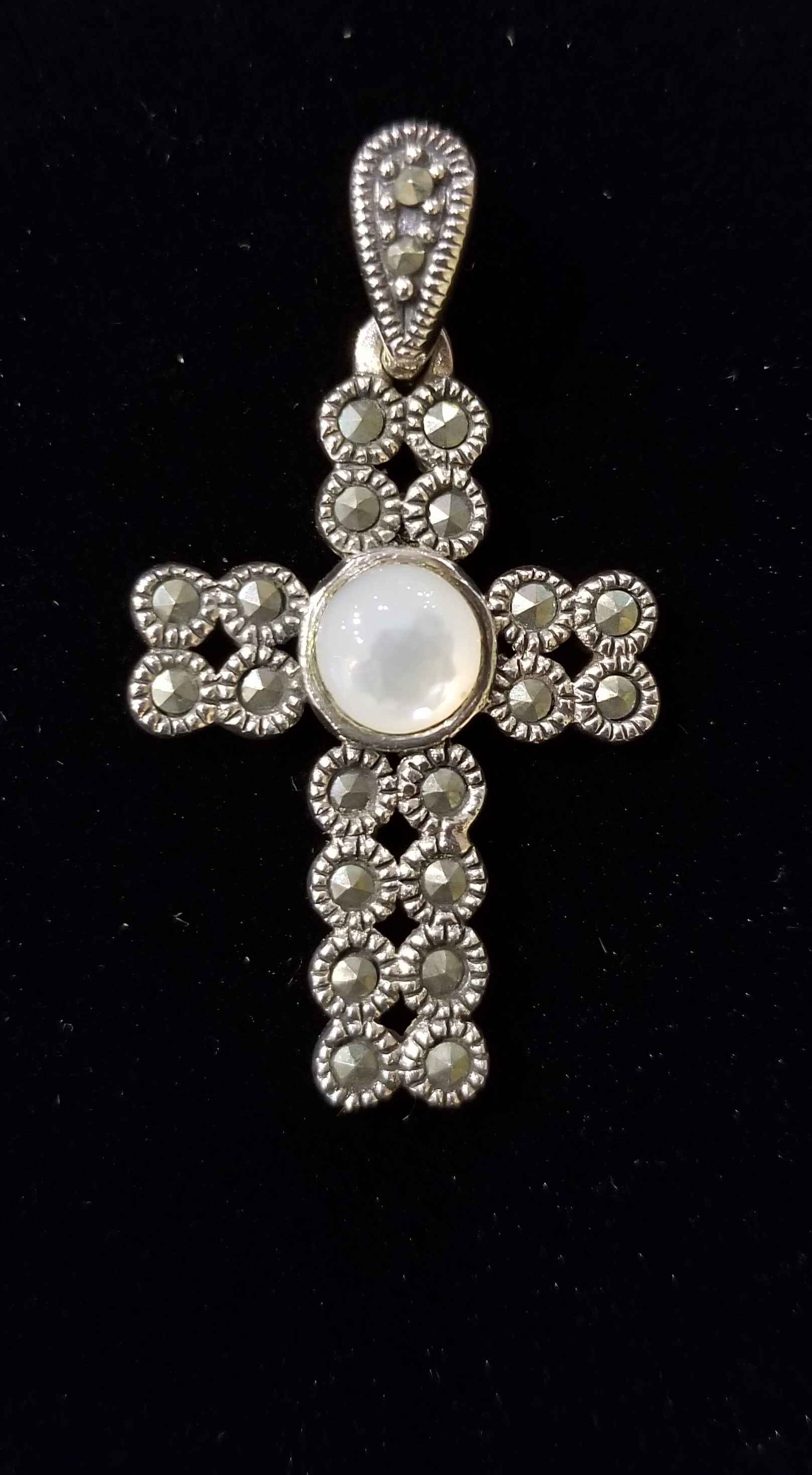 Pendant - Cross w/Moo... by  Gallery Pieces - Masterpiece Online