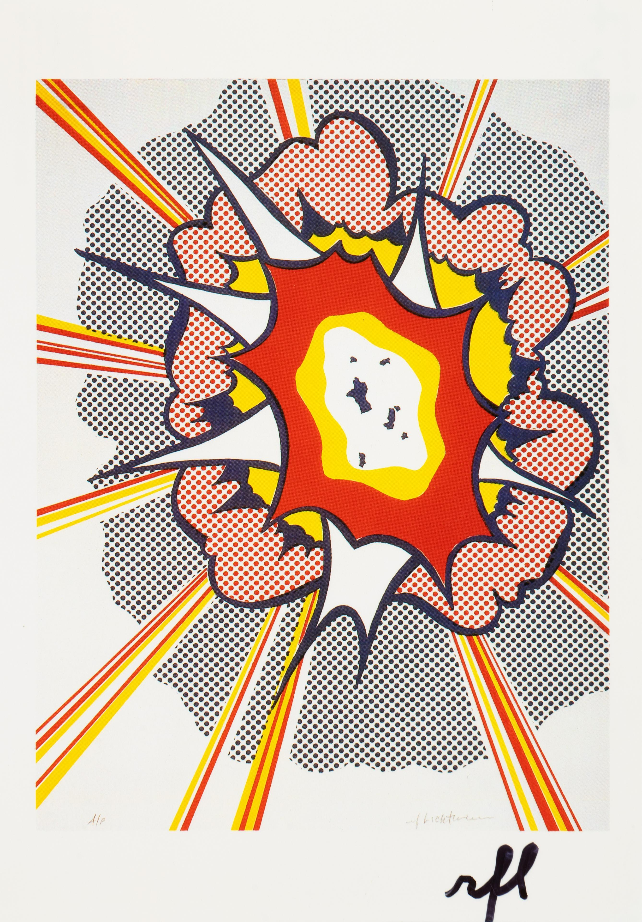 Explosion - Postcard ... by  Roy Lichtenstein - Masterpiece Online