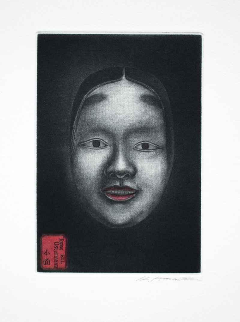 Noh Mask-Koomote by  Katsunori Hamanishi - Masterpiece Online