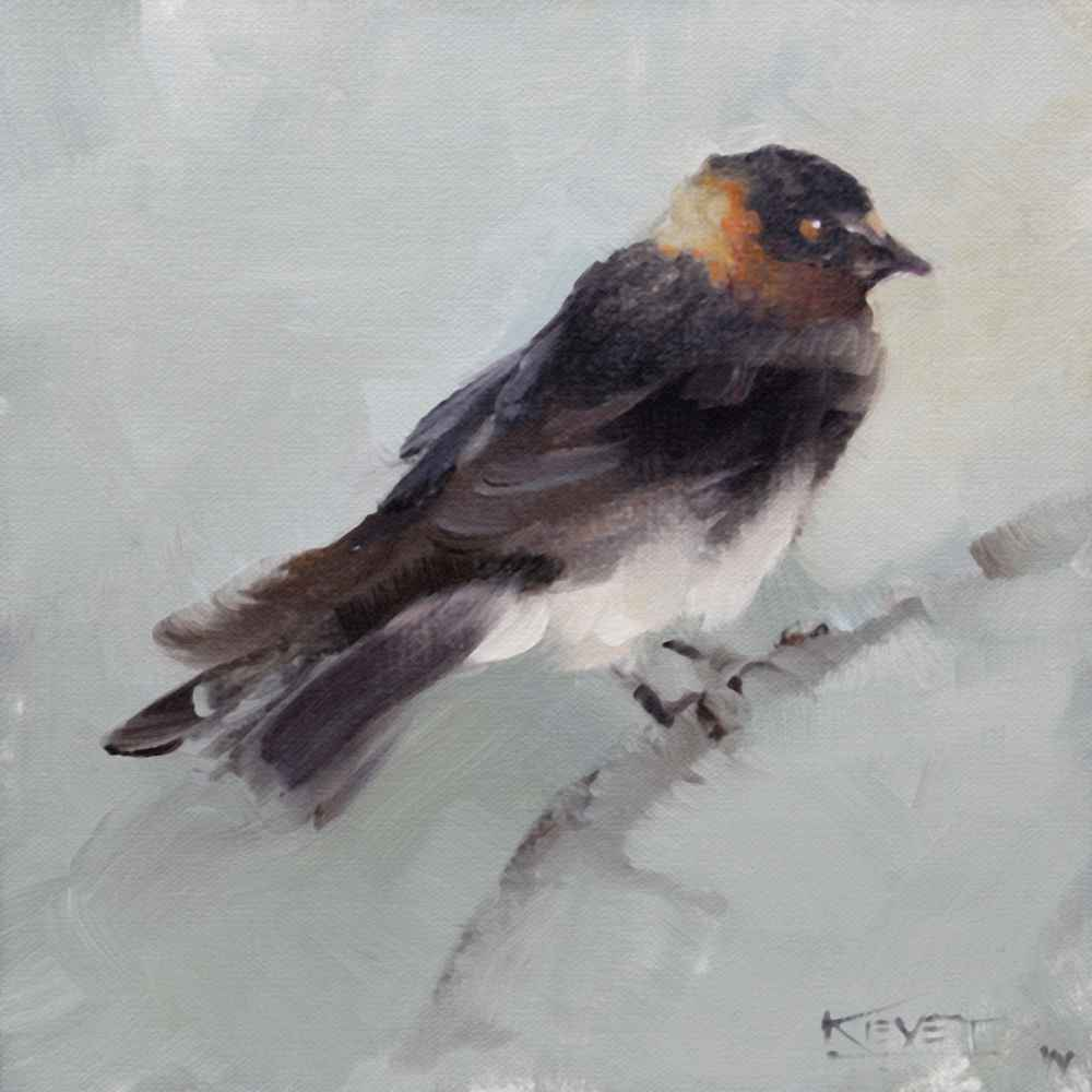 Swallow represented by  by  Fran Kievet