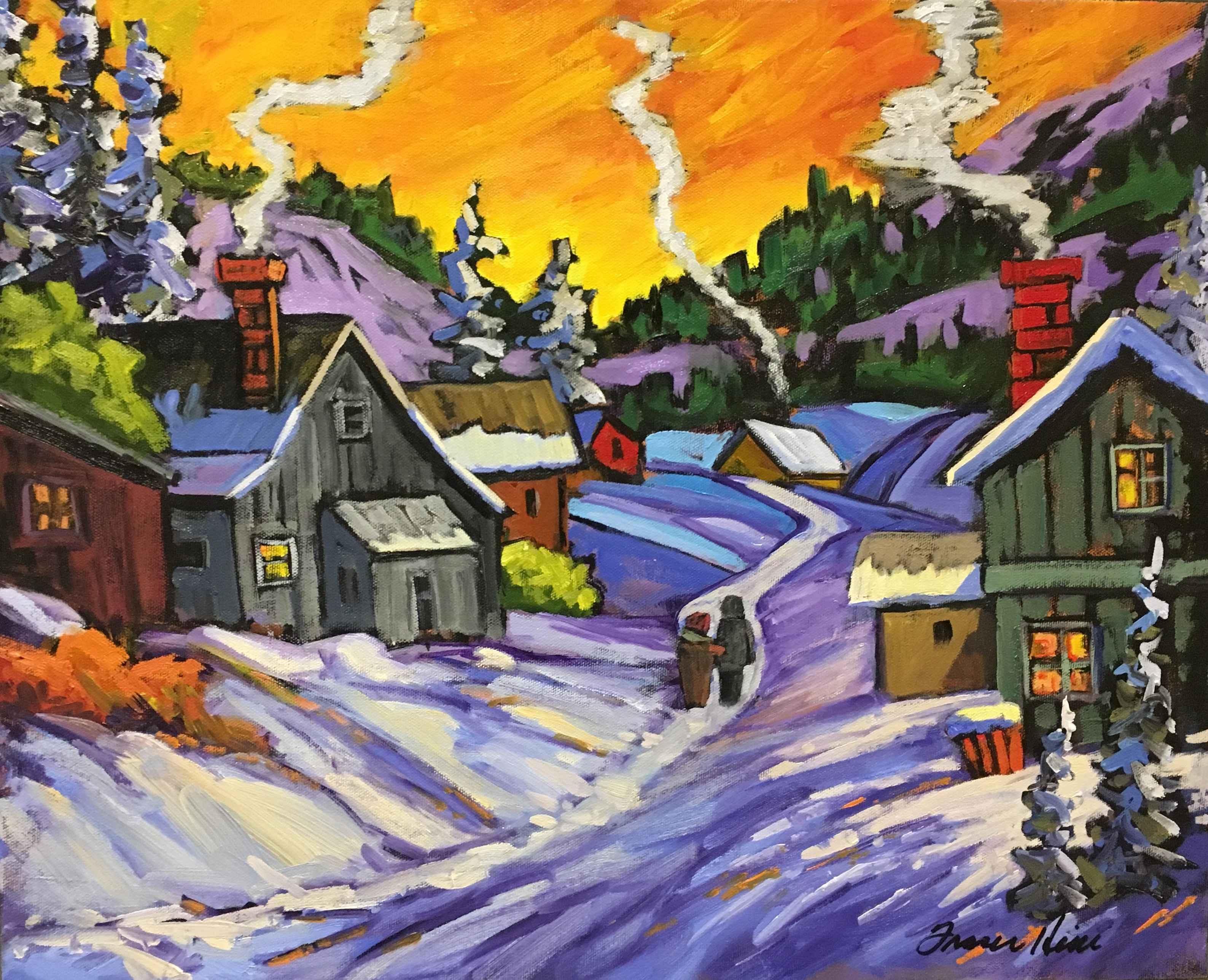 Winter Walk by  Fraser Hine - Masterpiece Online