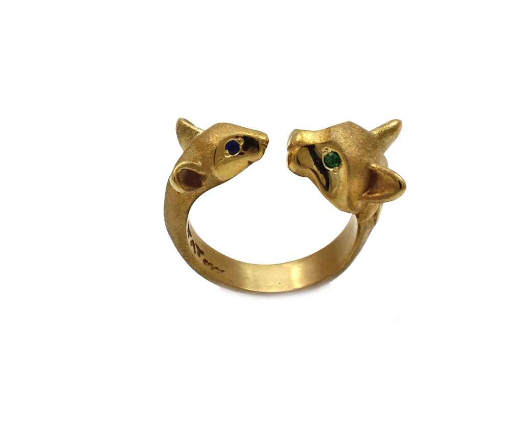 Cat/Mouse Bronze Ring by  Michael Tatom - Masterpiece Online