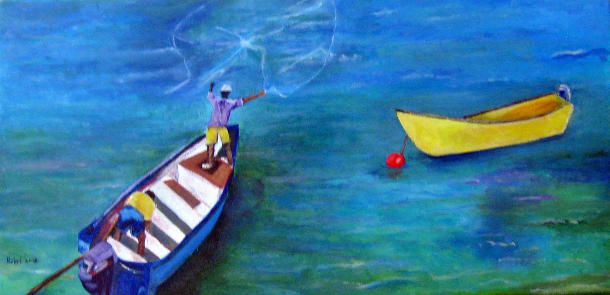 The Fisherman by  Ruby Lloyd - Masterpiece Online